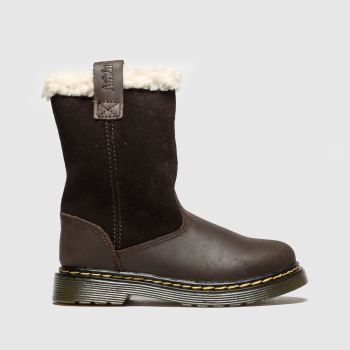 Dr Martens Dark Brown Juney Girls Toddler