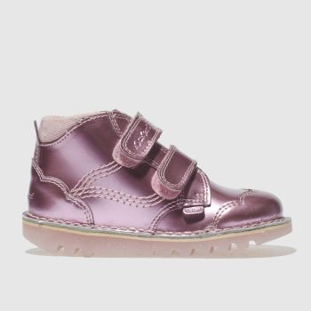 Kickers Pale Pink Flo Hi Girls Toddler