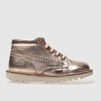 Kickers Rose Gold KICK HI Girls Toddler