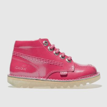 Kickers Pink Kick Hi Girls Toddler