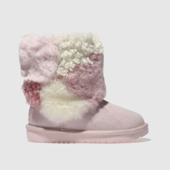 Ugg Pale Pink Classic Short Ii Patchwork Girls Toddler
