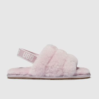 Ugg Pale Pink Fluff Yeah Slide Girls Toddler