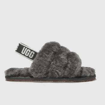 Ugg Grey Fluff Yeah Slide Girls Toddler