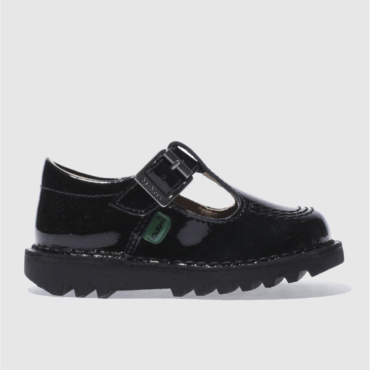 Kickers Black Kick T-bar Shoes Toddler