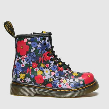 Dr Martens Black & Purple 1460 Wanderflora Girls Toddler