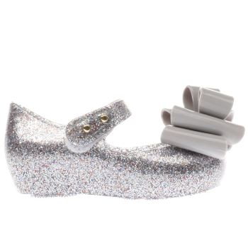 MELISSA  SILVER ULTRAGIRL TRIPLE BOW GIRLS TODDLER SHOES