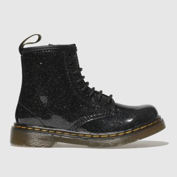 Dr Martens Black & Silver 1460 Glitter Girls Toddler#