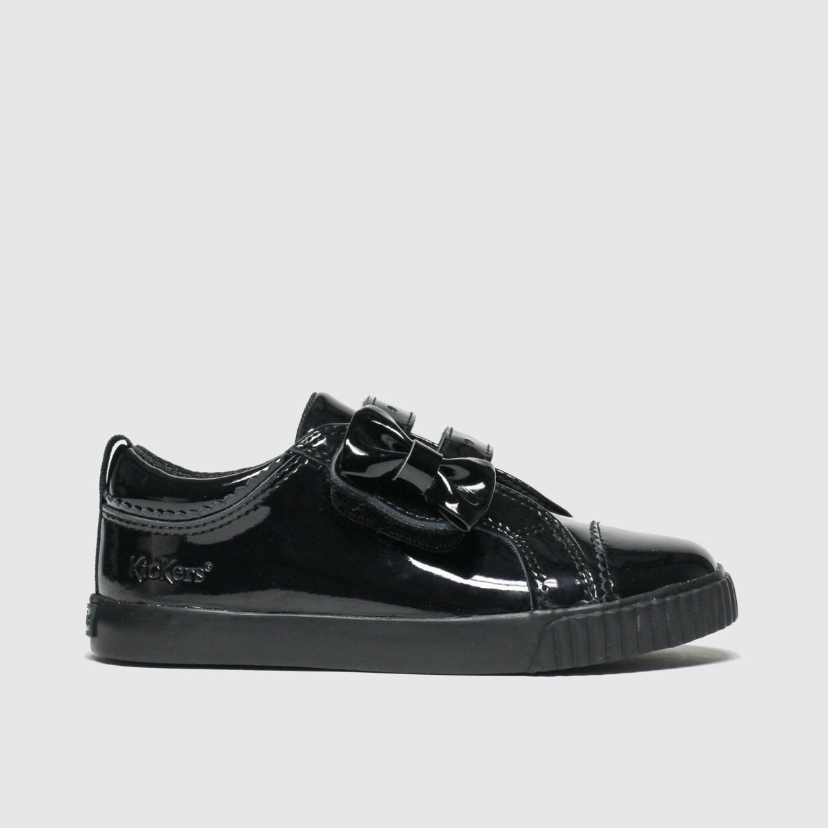 Kickers Black Tovni Lo Bow Shoes Toddler