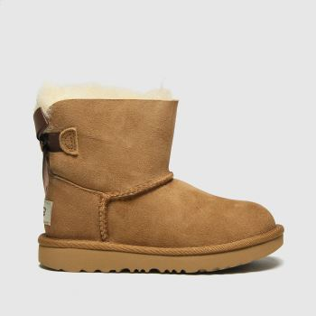 Ugg Tan MINI BAILEY BOW II Girls Toddler