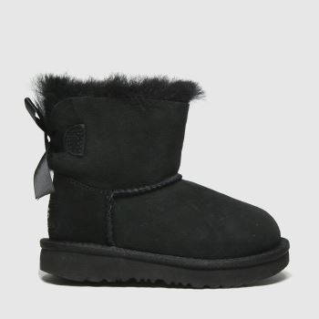 UGG Black Mini Bailey Bow Ii Girls Toddler