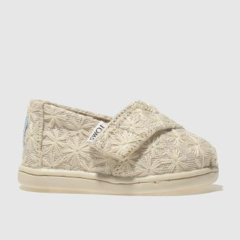 Toms Natural Classic Girls Toddler