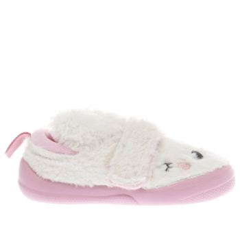 CLARKS WHITE & PINK SHILO PATCH GIRLS TODDLER SHOES