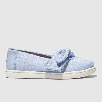 Toms Pale Blue Classic Girls Toddler