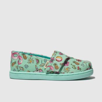 Toms Light Green Classic Girls Toddler