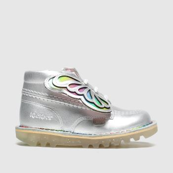 Kickers Silver Kick Hi Faeries Girls Toddler
