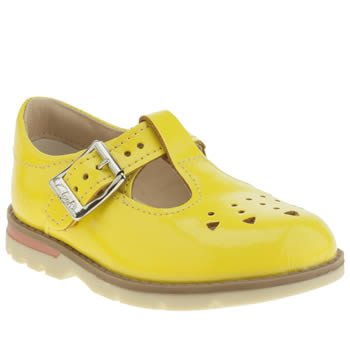 CLARKS YELLOW DABI LEILA FST GIRLS TODDLER SHOES