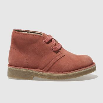 CLARKS ORIGINALS PINK DESERT BOOT FST BOOTS TODDLER