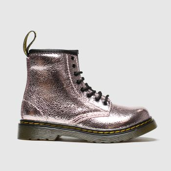 Dr Martens Pink 1460 Crinkle Metallic c2namevalue::Girls Toddler