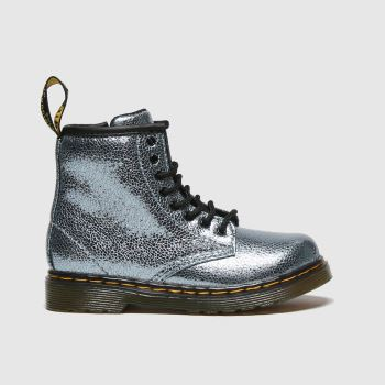 Dr Martens Turquoise 1460 Crinkle Metallic Girls Toddler
