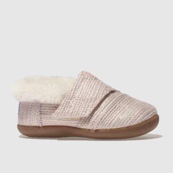 TOMS PALE PINK HOUSE SLIPPER BOOTS TODDLER