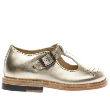 Young Soles Gold Dottie Girls Toddler