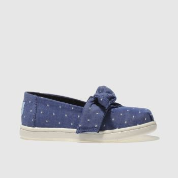Toms Navy Alpargata Bow Girls Toddler