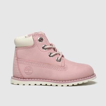 Timberland Pink Pokey Pine Zip c2namevalue::Girls Toddler