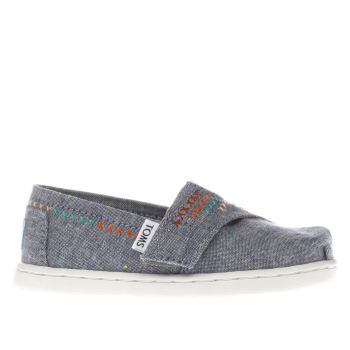TOMS BLUE DENIM CLASSIC GIRLS TODDLER SHOES
