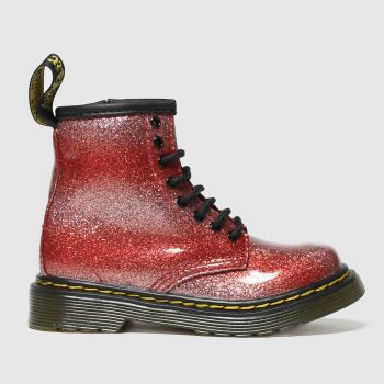 Dr Martens red 1460 glitter boots toddler