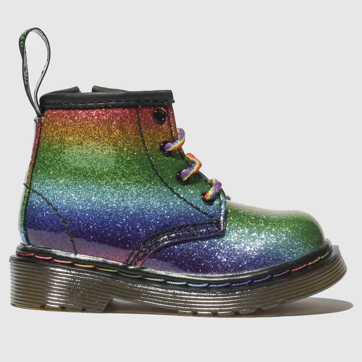 Dr Martens Green & Red 1460 Glitter Boots Toddler