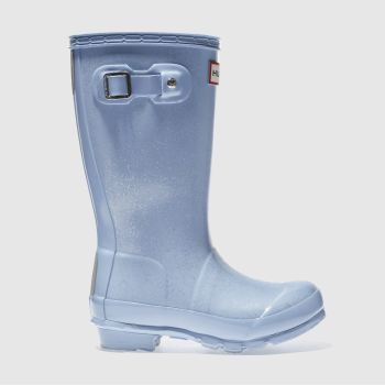 HUNTER PALE BLUE ORIGINAL GLITTER GIRLS TODDLER BOOTS