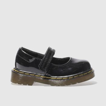 Dr Martens black maccy shoes toddler