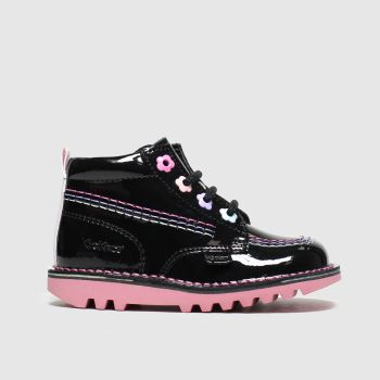KicKers Black Kick Hi Fleur Girls Toddler from Schuh