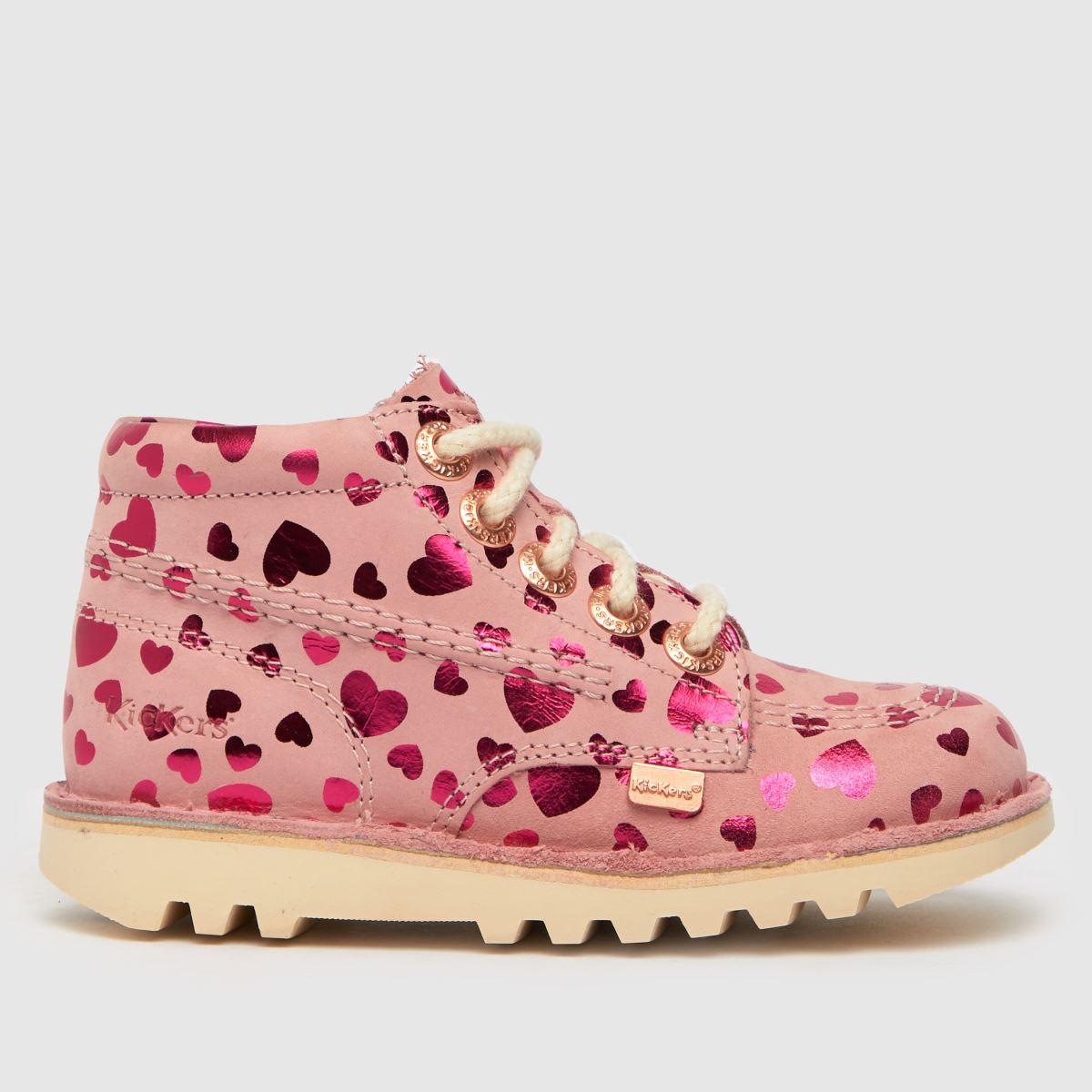 Kickers Pink Kick Hi Boots Toddler