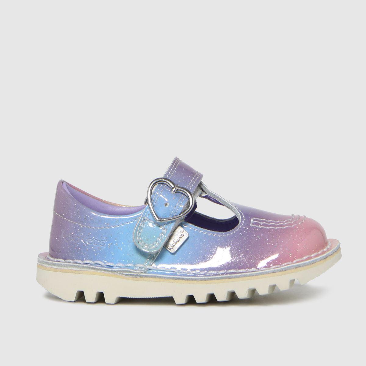 Kickers Multi T-bar Rainbow Boots Toddler