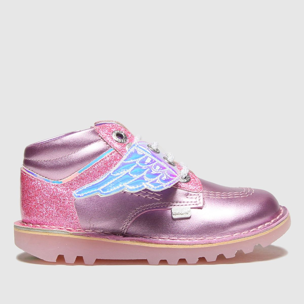 Kickers Pink Hi Angelic Boots Toddler