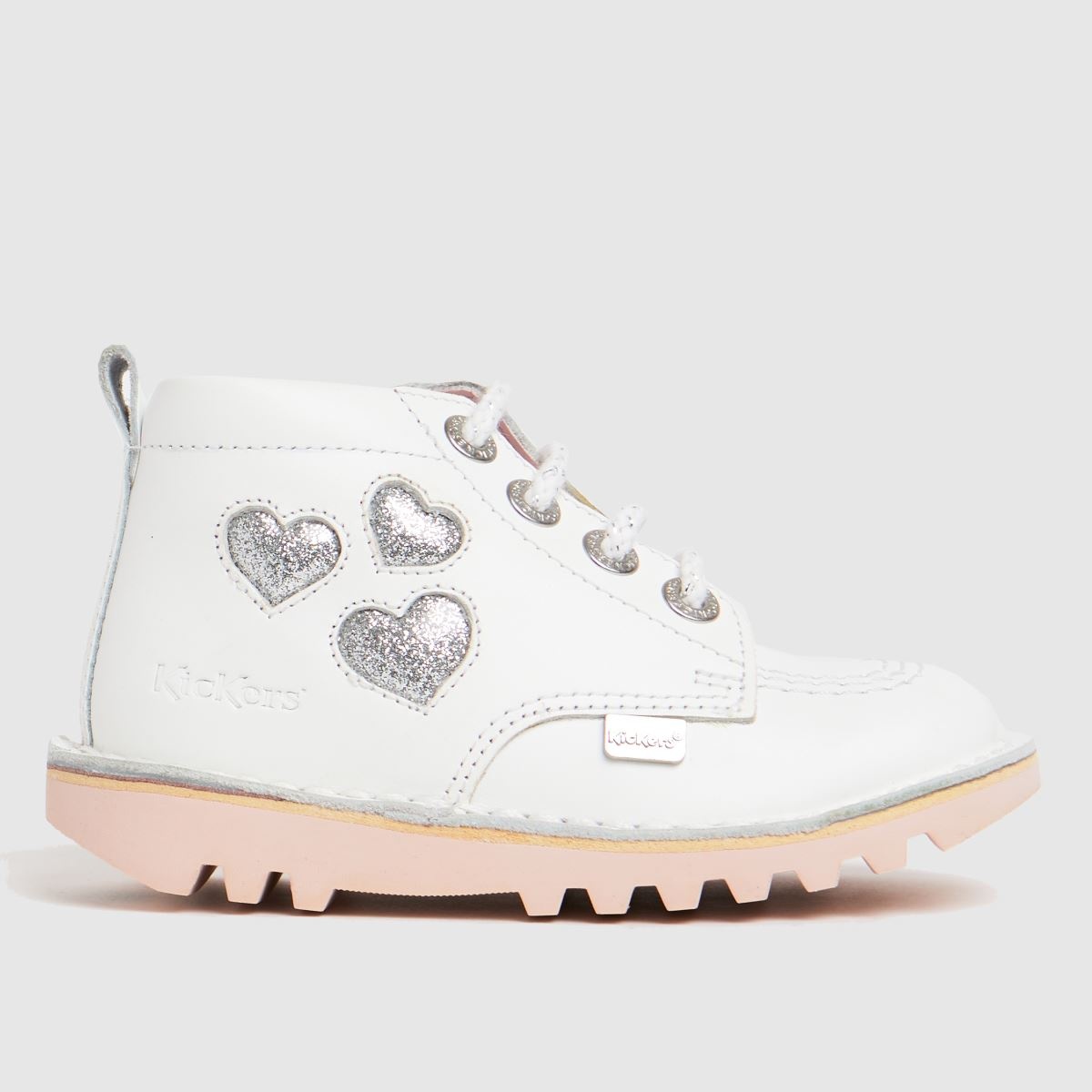 Kickers White Hi Heart Boots Toddler