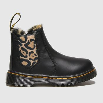 Dr Martens Black & Brown 2976 Leonore Girls Toddler