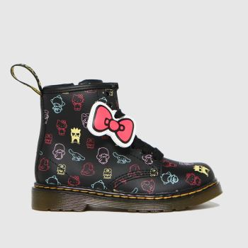 Dr Martens Black & pink 1460 Hello Kitty Girls Toddler