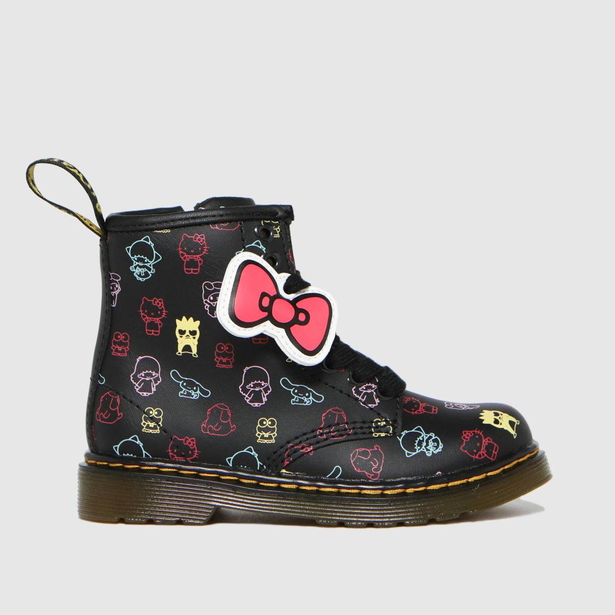 Dr Martens Black & Pink 1460 Hello Kitty Boots Toddler