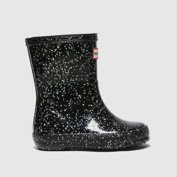 Hunter Black First Giant Glitter Girls Toddler