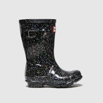 HUNTER Black Original Giant Glitter Girls Toddler