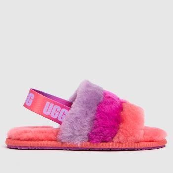 UGG Pink Fluff Yeah Slide Girls Toddler