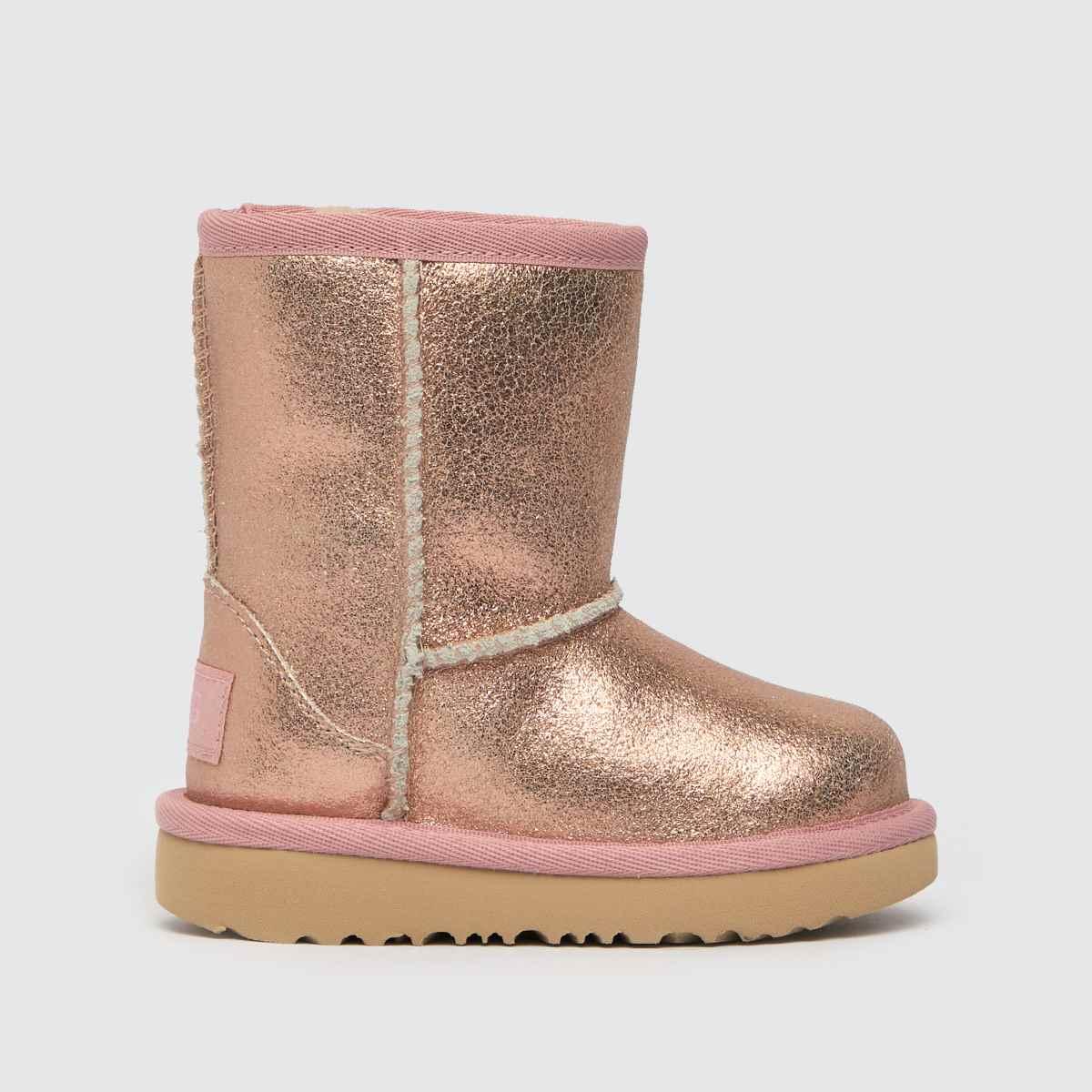 UGG Pink Classic Ii Metallic Boots Toddler