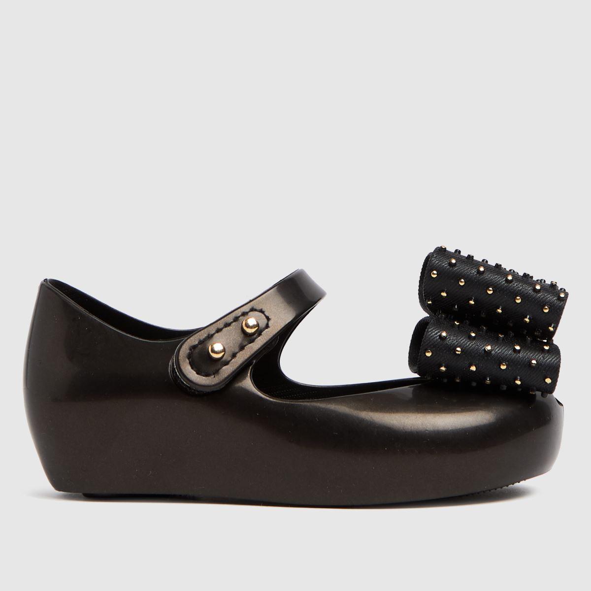 Melissa Black Ultragirl Dot Bow Shoe Toddler