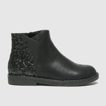 schuh Black Comet Glitter Chelsea Girls Toddler