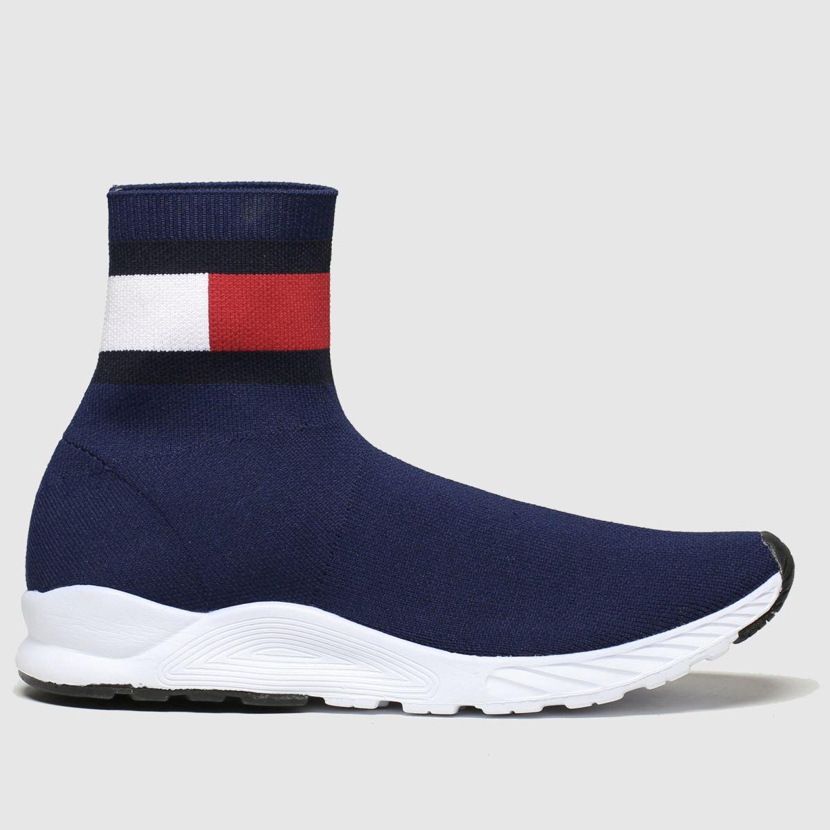 Tommy Hilfiger Navy & White Bootie Sneaker Boots Junior