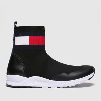 Tommy Hilfiger Black & White Bootie Sneaker Girls Junior