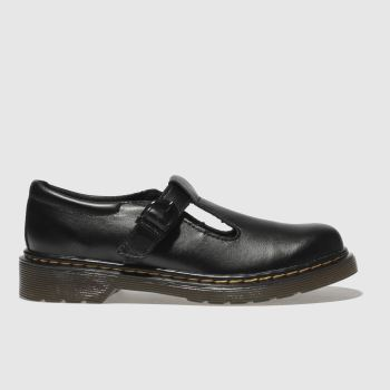 Dr Martens Black DM POLLEY Girls Junior
