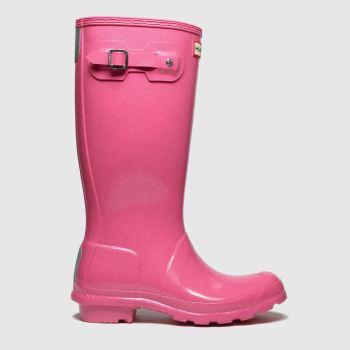 hunter pink original starcloud boots junior